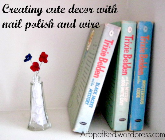 Creating cute decor with nail polish and wire
